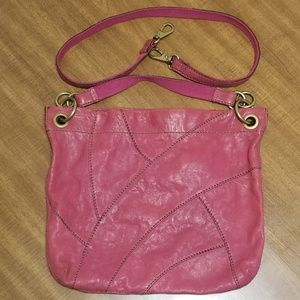 Pink Leather Long Live Vintage FOSSIL Purse.